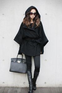 Зимнее женское пальто с капюшоном 8