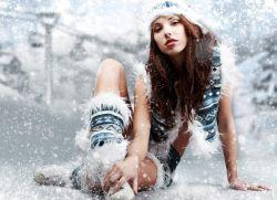 Зимние фотосессии девушек