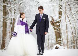 Зимние фотосессии свадьбы