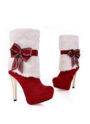 Зимние красные сапоги