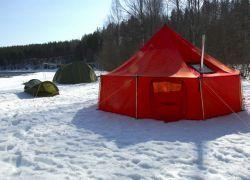 Зимние палатки с печкой