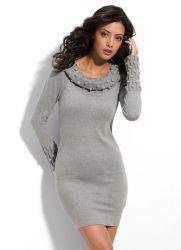 Зимние трикотажные платья