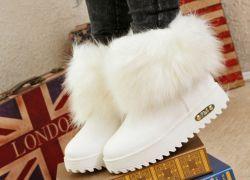 Зимние женские ботинки с мехом