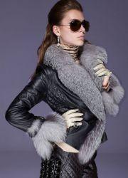 Зимние женские кожаные куртки