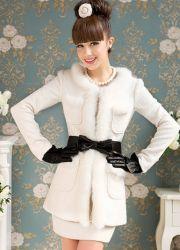 Зимние женские пальто с мехом