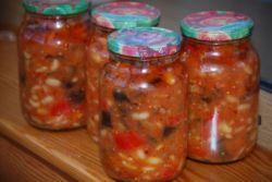 Зимний салат с фасолью - рецепт