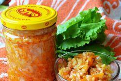 Зимний салат с рисом