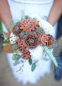 свадебный букет зимой 9