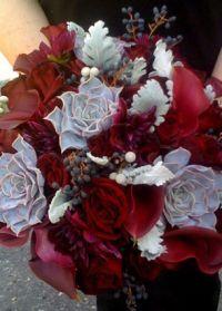 свадебный букет зимой 4