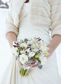 свадебный букет зимой 7