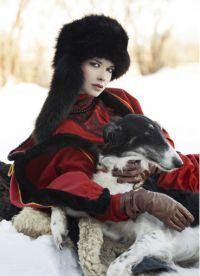 Зимняя фотосессия в русском стиле