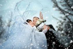Зимняя свадьба — идеи для фотосессии