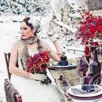 Зимняя свадьба – оформление