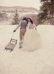 Зимняя свадебная фотосессия – идеи