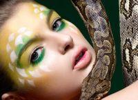 Змеиный макияж 4