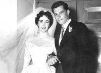 Элизабет Тейлор и ее первый муж Конрад Хилтон