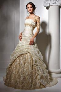 Золотое свадебное платье 2
