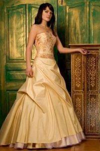 Золотое свадебное платье 3