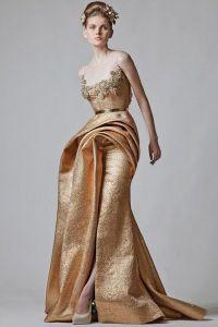 Золотое свадебное платье 4