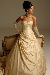 Золотое свадебное платье 5