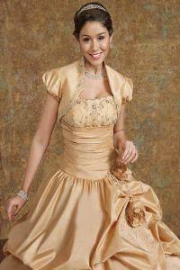 Золотое свадебное платье 6
