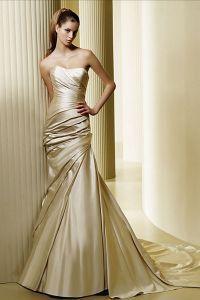 Золотое свадебное платье 7