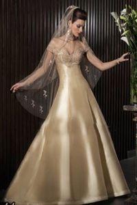 Золотое свадебное платье 8