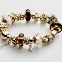 Золотой браслет пандора