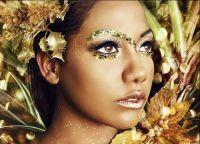 Золотой макияж10
