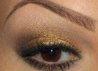 Золотой макияж7