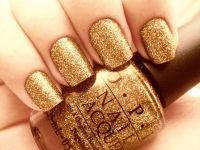 золотой маникюр 4