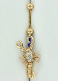 Piercing buric ornamente de aur 1