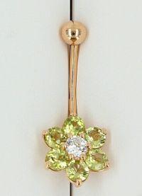 Piercing buric bijuterii de aur 3
