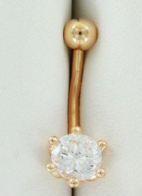 Piercing buric bijuterii de aur 8