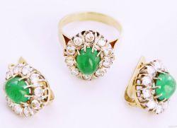 Золотые комплекты - серьги и кольцо