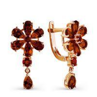 Золотые серьги с рубином 8